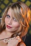 Beleza com pérolas Foto de Stock Royalty Free