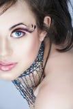 Beleza com pestanas cor-de-rosa foto de stock royalty free