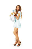 Beleza com presentes e flores fotos de stock royalty free