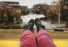 Beleza da cidade pequena de Vermont Fotos de Stock