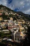 A beleza da costa de Amalfi em Itália imagem de stock