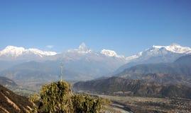 Beleza da escala de Annapurna Foto de Stock