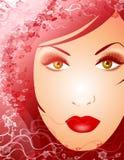 Beleza da face fêmea 2 da natureza ilustração stock