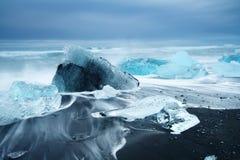 Beleza da ilha de Islândia, paisagem dramática imagens de stock