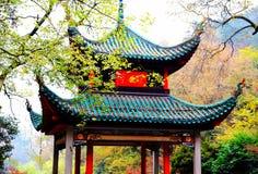 A beleza da montanha de Yuelu na cidade de Changsha imagem de stock