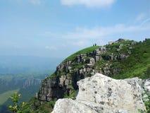 A beleza da natureza, montanha, céu, nuvens do ‹do †do ‹do †imagem de stock