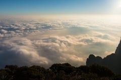 a beleza da natureza, o mar de nuvens do ‹do †do ‹do †imagens de stock