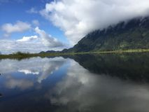 A beleza da reflexão das naturezas Imagens de Stock