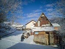 A beleza da vida rural foto de stock