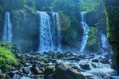 A beleza das cachoeiras foto de stock