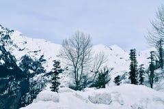 Beleza de fascinação da passagem de Rohtang Fotos de Stock Royalty Free