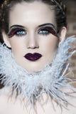 Beleza de Goth imagens de stock royalty free
