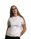 Beleza de Goth no t-shirt branco imagem de stock