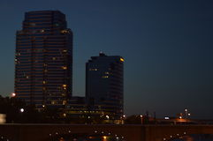 A beleza de Grand Rapids fotografia de stock
