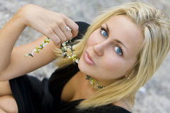 Beleza de Kissable imagem de stock royalty free
