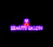 Beleza de néon Imagem de Stock Royalty Free