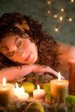 Beleza de sono imagem de stock royalty free