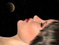 A beleza de sono Fotografia de Stock Royalty Free