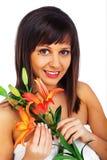 Beleza disparada da jovem mulher Imagens de Stock Royalty Free