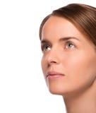 Beleza do close up disparada da mulher atrativa Imagem de Stock Royalty Free