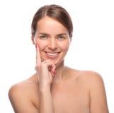 Beleza do close up disparada da mulher atrativa Foto de Stock Royalty Free