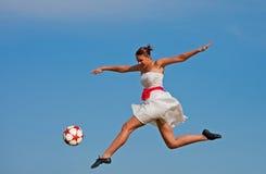 Beleza do futebol Imagem de Stock