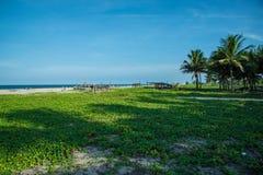Beleza do lado de mar em Chidambaram, Índia sul Foto de Stock