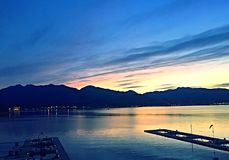 Beleza do nascer do sol do lugar de Canadá imagens de stock royalty free