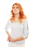 Beleza do Redhead imagem de stock royalty free