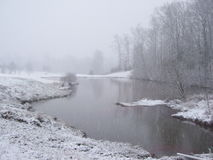 Beleza do silêncio dos invernos Imagens de Stock