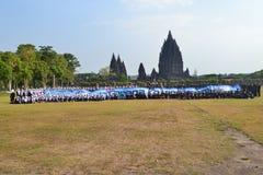 A beleza do templo prambanan foto de stock
