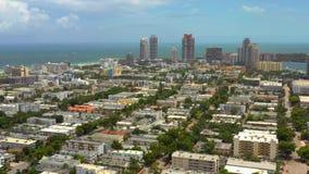 Beleza do vídeo do avião aéreo da Flórida de Miami Beach no verão de 2019 filme