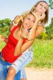 Beleza dois no verão Imagens de Stock