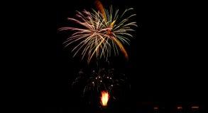 A beleza dos fogos-de-artifício foto de stock