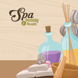 Beleza dos termas e terapia do aroma de toalha da saúde erval ilustração stock