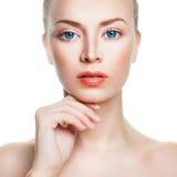 Beleza e conceito naturais de Skincare Cara dos termas imagens de stock royalty free