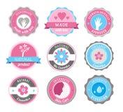 Beleza e emblemas dos cosméticos Fotografia de Stock Royalty Free