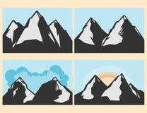 A beleza e a majestade das montanhas Foto de Stock