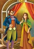 Beleza e o animal - príncipe ou princesa - castelos - cavaleiros e fadas - ilustração para as crianças ilustração royalty free