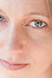 Beleza Eyed verde foto de stock royalty free