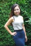 Beleza fêmea asiática foto de stock