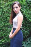Beleza fêmea asiática imagem de stock