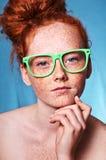 Beleza Freckled fotos de stock royalty free