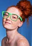 Beleza Freckled foto de stock