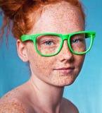 Beleza Freckled fotografia de stock royalty free