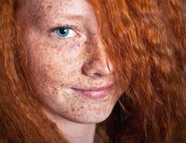 Beleza Freckled imagens de stock