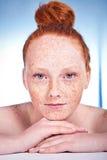 Beleza Freckled fotografia de stock