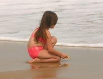 Beleza futura da praia foto de stock