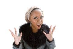 Beleza gritando Imagem de Stock Royalty Free
