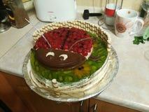 Beleza kiev saboroso do bolo de Laddybird Fotografia de Stock Royalty Free